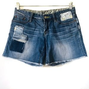 Lucky Brand Jagger Mended Patchwork Shorts Denim